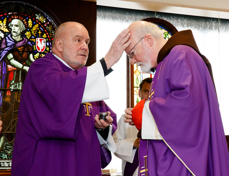 Cardinal Sean P. O'Malley celebrates Mass of Ash Wednesday at the Archdiocese of Boston's Pastoral Center, Feb. 14, 2018. Pilot photo/ Gregory L. Tracy