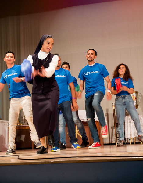 Atrevete rally for Hispanic youth in the Archdiocese of Boston, held at Fontbonne Academy, July 8, 2017.<br /> Pilot photo/ Donis Tracy