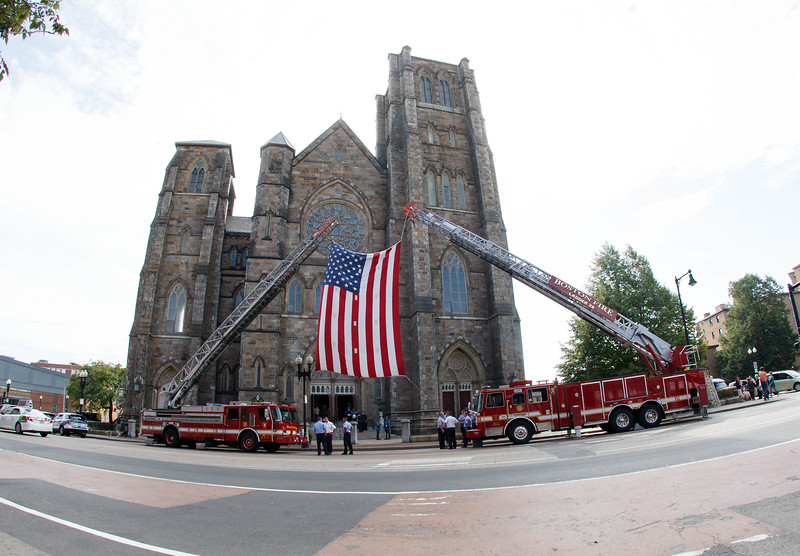 Cardinal Seán P. O'Malley celebrates the Mass for Public Safety Personnel, sometimes called the Blue Mass, at the Cathedral of the Holy Cross Sept. 21, 2014.<br /> Pilot photo/ Gregory L. Tracy