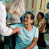 Boston pilgrims visit the church-run day programs for special needs children and the elderly at Parroquia La Milagrosa in Havana Sept. 21.  Many pilgrims brought with them donations of toys or art supplies for the children and toiletries or clothing for the elderly.<br /> Pilot photo/ Gregory L.  Tracy
