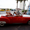 The pilgrims received a treat of picked up for their Sept. 21 farewell dinner in Havana's famous classic car taxis.<br /> Pilot photo/ Gregory L.  Tracy