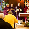 Mass to commemorate the 50th anniversary of priestly ordination of Bishop Arthur Kennedy, celebrated by Cardinal Seán P. O'Malley at the Archdiocese of Boston's Pastoral Center, Dec. 19, 2016.<br /> Pilot photo/ Gregory L. Tracy