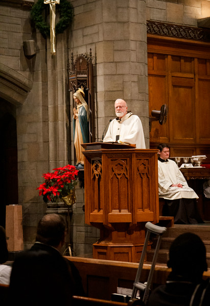 Cardinal O'Malley celebrates New Year's Eve Mass at St. Clement Eucharistic Shrine in Boston's Back Bay Dec. 31, 2018.<br /> Pilot photo/ Jacqueline Tetrault