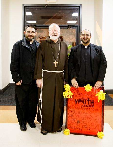 Cardinal O'Malley visits the Youth Center at St. Joseph Parish, Lynn Nov. 9, 2018.<br /> Pilot photo/ Jacqueline Tetrault