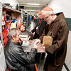 Cardinal Sean P. O'Malley visits Ringing Bros. Barnum and Bailey Circus at Boston's TD Garden  on Oct. 14, 2011 with National Circus Chaplain and Boston priest Father Gerry Hogan. Pilot photo/ Gregory L. Tracy