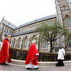 Following two years of renovations, the Cathedral of the Holy Cross reopens for regular Masses Palm Sunday, April 14, 2019.<br /> Pilot photo/ Gregory L. Tracy