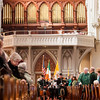 Cardinal Seán P. O'Malley celebrates Mass for the Feast of St. Patrick at the Cathedral of the Holy Cross March 17, 2014. <br /> Pilot photo/ Gregory L. Tracy
