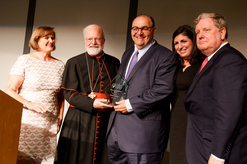 William F. Kennedy receives Catholic Charities' Justice and Compassion Award May 17, 2017.<br /> Pilot photo/ Mark Labbe