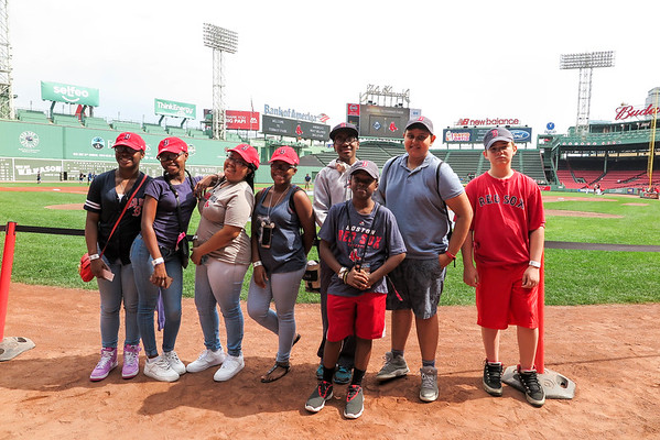 Catholic school students tour Fenway Park