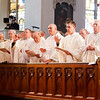 Chrism Mass March 22, 2016 at the Cathedral of the Holy Cross in Boston. Pilot photo/ Gregory L. Tracy