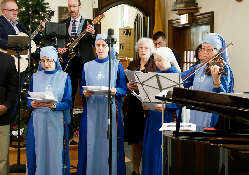 Mass of Perpetual Profession of Daughters of Mary of Nazareth Sister Guadalupe Karol Quinn and Sister Faustina Kolbe Burda, Dec. 8, 2019 at St. John the Baptist Church in Quincy. Sister Guadalupe and Sister Faustina are the first members of the community to take perpetual vows.<br /> Pilot photo/ Jacqueline Tetrault