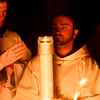Cardinal O'Malley celebrates the Easter Vigil April 15, 2017 at the Cathedral of the Holy Cross.<br /> Pilot photo/ Mark Labbe.