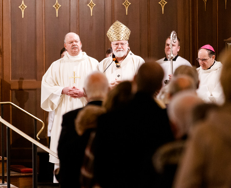 Funeral Mass of Bishop Walter Edyvean at St. Patrick Church in Natick, Feb. 8, 2019. Pilot photo/ Gregory L. Tracy