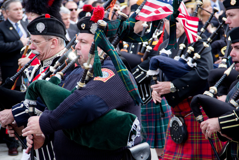 Funeral Mass for Boston Fire Lt. Edward Walsh, celebrated April 2, 2014 at St. Patrick Church in Watertown.  Walsh was killed along with Firefighter Michael Kennedy fighting a March 26 nine-alarm brownstone in Boston's Back Bay.<br /> Pilot photo/ Christopher S. Pineo
