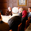 Boston Mayor Martin Walsh addresses Muslim leaders at a gathering hosted by Cardinal O'Malley to bring Boston-area Muslim community leaders together with representatives of the local Catholic and Greek Orthodox Churches and government officials, including Gov. Charlie Baker, Mayor Walsh and Boston Police Commissioner William Evans, at the rectory of the Cathedral of the Holy Cross Feb. 2, 2017.<br /> Pilot photo/ Gregory L. Tracy