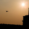 The helicopter carrying Pope Benedict lifts off over Vatican City State Feb. 28.  Pilot photo/Gregory L. Tracy