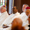Cardinal Seán P. O'Malley formally accepts Father Garcia Brenneville as a priest of the Archdiocese of Boston in a ritual known as incardination at the archdiocese's Pastoral Center April 7, 2015.  Father Brenneville is a native of Port-Au-Prince, Haiti, and he serves as parochial vicar at Christ the King Parish, St. Edith Stein Parish and Our Lady of Lourdes Parish in Brockton.  (Pilot photo/ Gregory L. Tracy)
