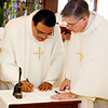 Incardination of Fathers John Chen and Eduardo Marques at the Pastoral Center, Sept. 6, 2017.<br /> Pilot photo/ Gregory L. Tracy