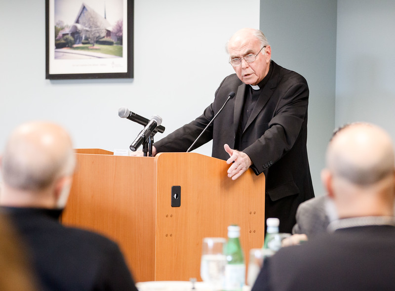 Boston-area interfaith leaders gather at the Archdiocese of Boston's Pastoral Center to discuss the potential impact of the proposed Act to Remove Obstacles and Expand Abortion Access, also known at the ROE Act, April 1, 2019. (Pilot photo/ Gregory L. Tracy)