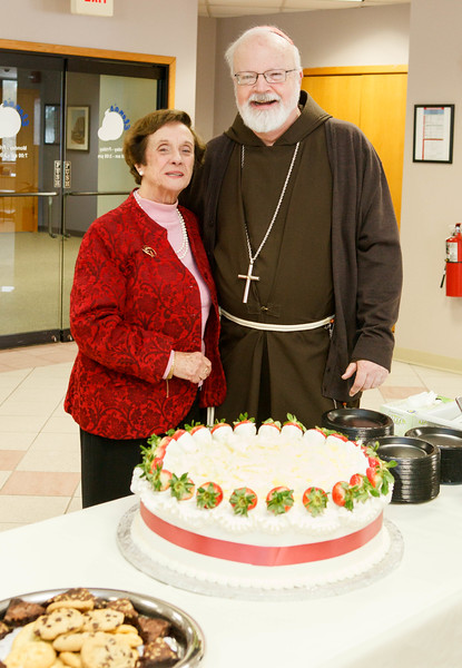 Retirement celebration for Pilar Latorre who served the archdiocese's Hispanic community for 40 years, Feb. 26, 2015. Pilot photo by Gregory L. Tracy