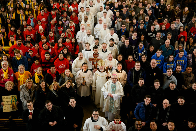 Mass for Boston March for Life pilgrims at the Shrine of the Sacred Heart in Washington, D.C., Jan. 18, 2019.<br /> Pilot photo/ Gregory L. Tracy