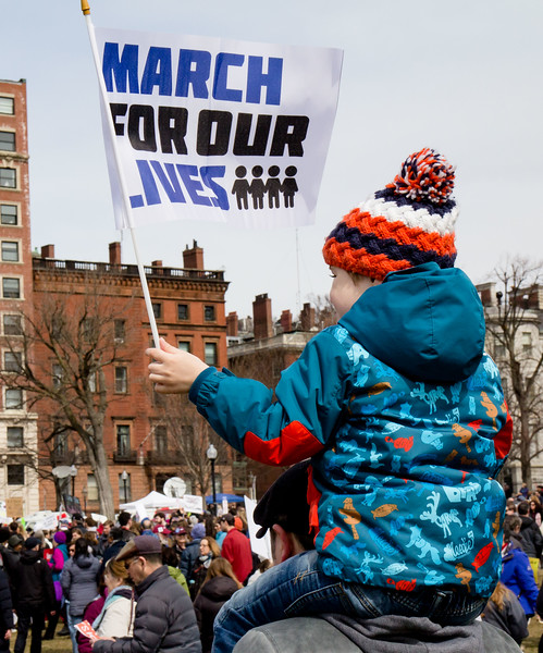 The March for Our Lives rally against gun violence and for school safety on Boston Common, March 24, 2018.<br /> Pilot photo/ Mark Labbe