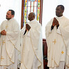 Incardination of Fathers Succès Jean-Pierre, Gabino Macias and Linus Mendis during Mass celebrated Feb. 28, 2014 at the Archdiocese of Boston's Pastoral Center in Braintree. Pilot photo/ Gregory L. Tracy