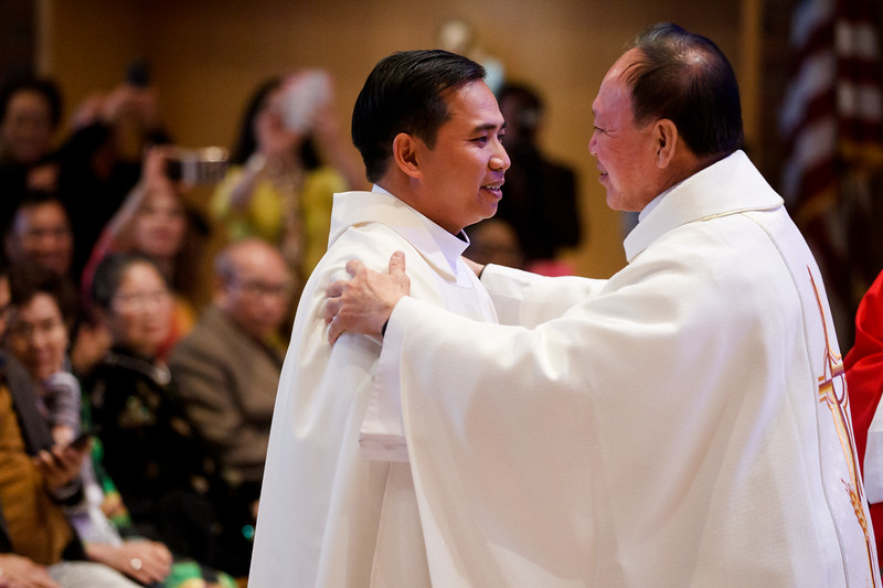 Cardinal Sean P. O'Malley ordains Father Francis Huy Duc Pham to the priesthood, Nov. 30, 2019 at Our Lady Comforter of the Afflicted Church in Waltham.<br /> Pilot photo/ Gregory L. Tracy