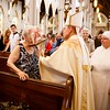 Bishop Robert P. Reed celebrates Mass for the Feast of St. Padre Pio at the Cathedral of the Holy Cross in the presence of the relic of the saint's heart Sept. 23, 2016. Afterwards, the faithful were invited to venerate the relic.<br /> Pilot photo/ Gregory L. Tracy