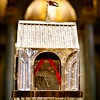 The reliquary containing the heart of St. Padre Pio stands in Immaculate Conception Church in Lowell, Mass. Sept 21, 2016. The relic is on a three-day tour of the Archdiocese of Boston, which will culminate with a Mass celebrated by Cardinal Seán P. O'Malley on the saint's feast day, Sept. 23.<br /> Pilot photo/ Gregory L. Tracy