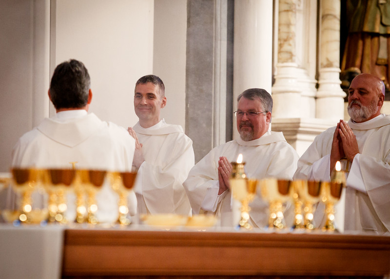 Ordination Mass of Permanent Deacons John Czajkowski, Paul Breadmore, Joseph Cooley, Charles Hanafin, John Kobrenski, and John Koza, celebrated by Cardinal Seán P. O'Malley Oct. 15, 2015 at the Cathedral of the Holy Cross.<br /> Pilot photo/ Gregory L. Tracy