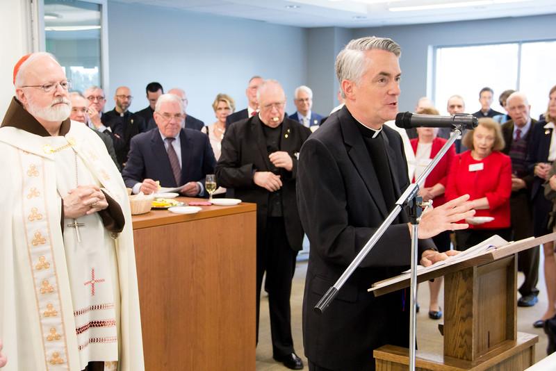 Dedication of Pope St. John XXIII Learning Center, April 20, 2016. Pilot photo by Mark Labbe