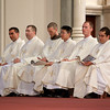 Fathers John D'Arpino, Michael Farrell, Seán Hurley, FPO, Kwang Hyun Lee, Mark Murphy, and Carlos Suarez are ordained to the priesthood by Cardinal Seán P. O'malley May 21, 2011 at the Cathedral of the Holy Cross. <br /> Pilot photo by Gregory L. Tracy