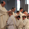 Priesthood Ordination of Fathers Jeffrey Archer, Steven Clemence, Peter DeFazio, George Fitzsimmons, Kevin Hickey, Karlo Hocuscak, Mark Storey, Lawrence Tocci and Jiwon Yoon at Boston's Cathedral of the Holy Cross, May 24, 2014. Pilot photo by Gregory L.