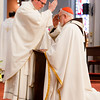 Cardinal Sean O'Malley ordains nine men to the priesthood at Boston's Cathedral of the Holy Cross May 21, 2016.  The new priests ordained are: Fathers Christopher Bae, Matthew Conley, Patrick Fiorillo, Thomas Gignac, Stephen LeBlanc, Dominic Ngo, Thomas Olson, Kevin Staley-Joyce and Thomas Sullivan. <br /> Pilot photo/ Gregory L. Tracy