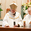 Cardinal Sean P. O'Malley celebrates the Mass for the Dedication of the Altar of the Chapel at Regina Cleri, Aug. 21, 2019.  The Mass marked the completion of a months-long renovation of the chapel.<br /> Pilot photo/ Gregory L. Tracy