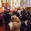 More than 540 people preparing to enter the Church this Easter gathered with family and supporters at the Cathedral of The Holy Cross, Feb. 17, 2013 for the Rite of Election and Call to Continuing Conversion.  Due to a large number of catechumens and candidates joining the Church, the archdiocese held two ceremonies for the different regions, one at 1:30 p.m. and the other at 4:00 p.m.<br /> Pilot photo/ Christopher S. Pineo
