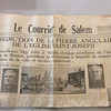A May 1949 edition of Le Currier de Salem included in the time capsule.<br /> Courtesy photo