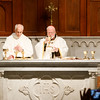 Cardinal Sean O'Malley celebrates the Mass of Dedication and Consecration of Our Lady of Good Voyage Shrine in South Boston, April 22, 2017.  <br /> Pilot photo/ Gregory L. Tracy