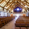 Renovations at St. Elizabeth Church in Milton feature windows saved from the former St. Augustine Church in South Boston.<br /> Pilot photo/ Donis Tracy