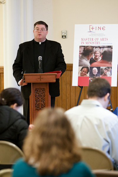 Announcement of St. John's Seminary TINE program March 17, 2011. Photo by Gregory L. Tracy, The Pilot