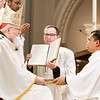 Ordination of Transitional Deacons Joseph Almeida, Maciej Kazimierz Araszkiewicz, Corey Bassett-Tirrell, Marcos Enrique, Timothy Paul Hynes, Przemyslaw Kasprzak, Brother John Edward Koelle OFM Cap., Brian Peter O'Hanlon, Mark Teodor Olejnik, Francis Huy Duc Pham, William Henry Robinson, Carignan Langlois Rouse, Victor Luna Vitug II, and James Paul Wargovich at Immaculate Conception Church in Lowell, April 14, 2018.<br /> Pilot photo/ Gregory L. Tracy