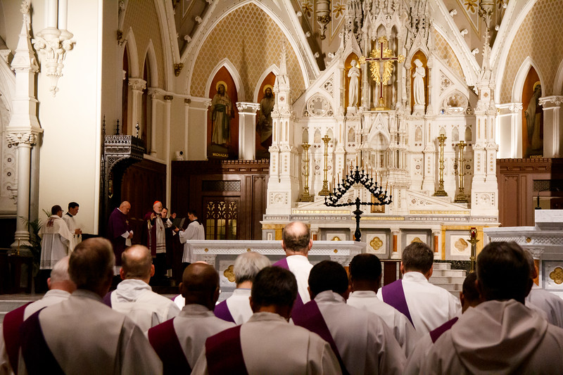 Celebration of Tenebrae at the Cathedral of the Holy Cross, April 17, 2019.<br /> Pilot photo/ Antonio M. Enrique