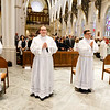 Erick Gonzalez, Joseph Hubbard, Matthew Norwood, Fernando J. Vivas, and Daniel Zinger for the Archdiocese of Boston; Brother Paul Kallal for the Oblates of the Virgin Mary; and Brother Antonio B. Lopez for the Congregation of the Sacred Stigmata are ordained transitional deacons June 8, 2019 at the Cathedral of the Holy Cross.<br /> Pilot photo/ Gregory L. Tracy