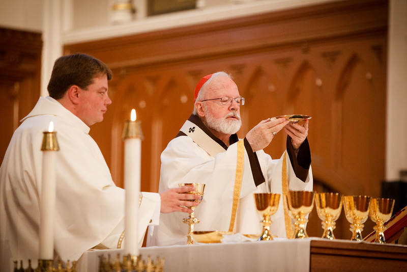 Transitional diaconate ordination of Deacons Jason Giombetti, Pablo Gomis Gonzalez, Godfrey Musabe, Wellington DeOliveira, Joel Santos and William Sexton at the Cathedral of the Holy Cross, April 30, 2016. The men will be ordained to the priesthood in 2017.<br /> Pilot photo/ Gregory L. Tracy
