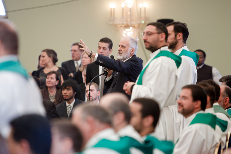"""Apostolic nuncio to the United States Achbishop Pietro Sambi celebrates Mass with members of the Neocatechumenal Way Oct. 10, 2010.  Photo by Gregory L. Tracy ( <a href=""""http://www.GregoryTracy.com"""">http://www.GregoryTracy.com</a>)"""