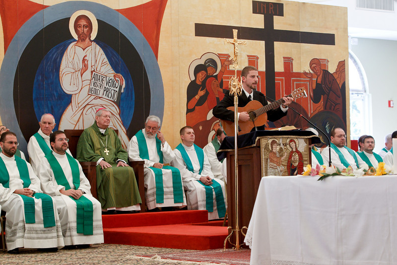 "Apostolic nuncio to the United States Achbishop Pietro Sambi celebrates Mass with members of the Neocatechumenal Way Oct. 10, 2010.  Photo by Gregory L. Tracy ( <a href=""http://www.GregoryTracy.com"">http://www.GregoryTracy.com</a>)"