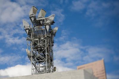 Alien communication tower