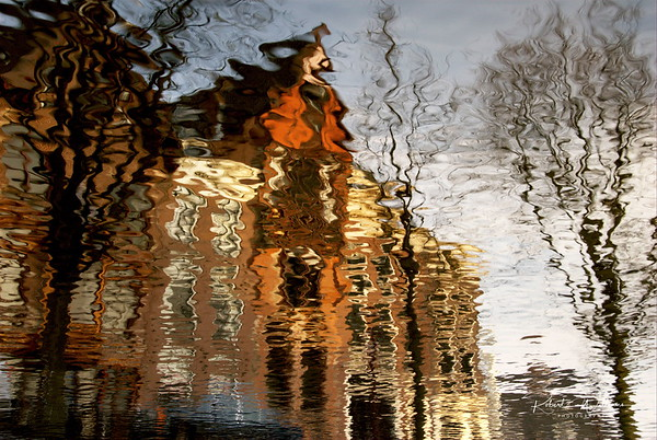 Houses on Reguliersgracht Reflected in the Canal