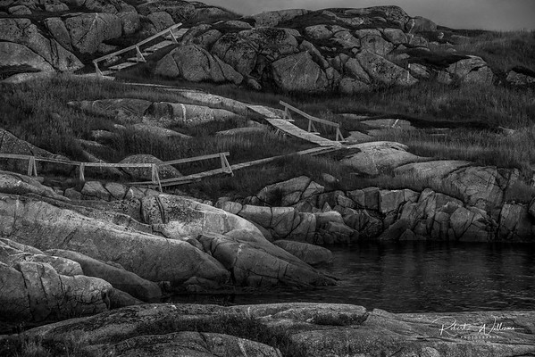 Wooden path to Hancock's Head, Greenspond Island
